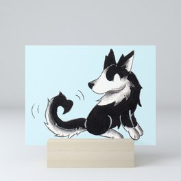 Husky Heart Mini Art Print