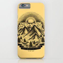 FIND A BEAUTIFUL PLACE TO GET LOST (Yellow) iPhone Case