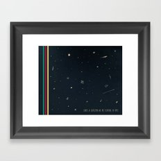 We are floating in space Framed Art Print