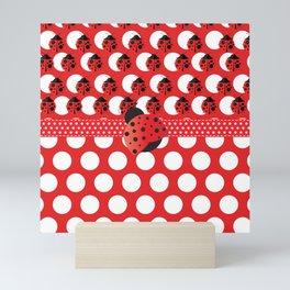 I See Ladybug Dots Mini Art Print