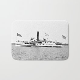 Ticonderoga Steamer on Lake Champlain Bath Mat