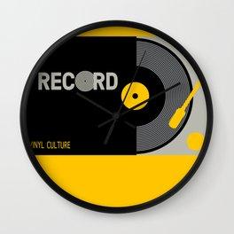 Vinyl Cul Wall Clock