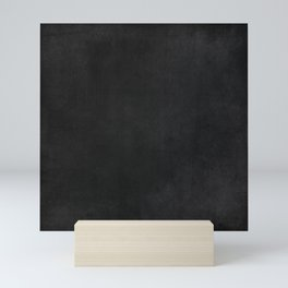 Simple Chalkboard background- black - Autum World Mini Art Print