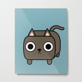 Cat Loaf - Brown Kitty Metal Print