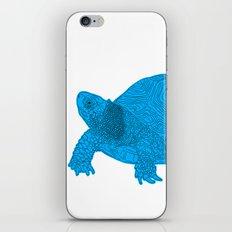 Turtle Illustration Blue iPhone & iPod Skin