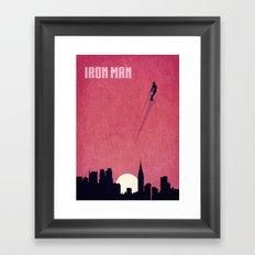 Iron Man Minimalist Poster Framed Art Print