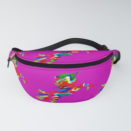 Watercolor unicorn-Purple Fanny Pack