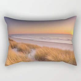 Dunes and beach at sunset on Texel island, The Netherlands Rectangular Pillow