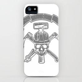 Death construction worker iPhone Case