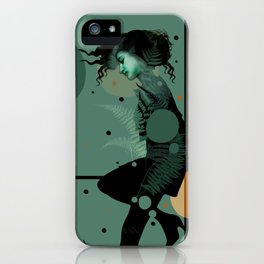 The Girl and the Moon iPhone Case