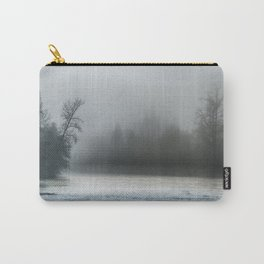 Remnant Of A Washed Out Bridge On A Foggy Afternoon Carry-All Pouch