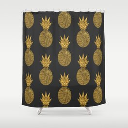 Bullion Rays Pineapple Shower Curtain