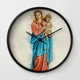 Virgin Mary And Jesus Wall Clock