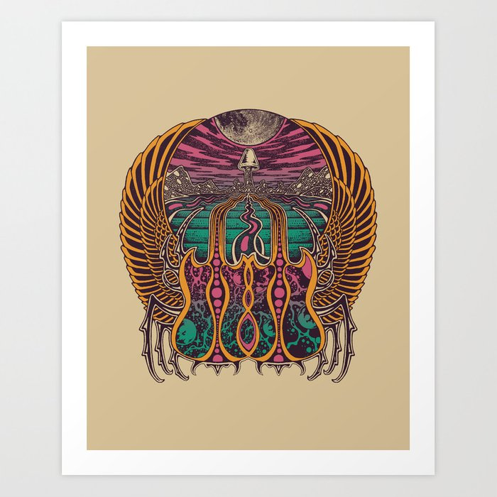 COSMIC SCARAB Art Print