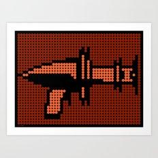 Space Adventure: Ray Gun Art Print
