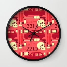 A Study In Pink Wall Clock