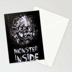 Monster Inside Stationery Cards