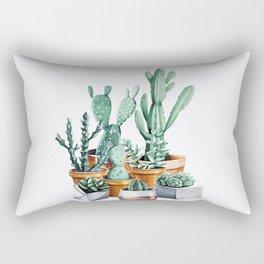 Potted Cacti Rectangular Pillow