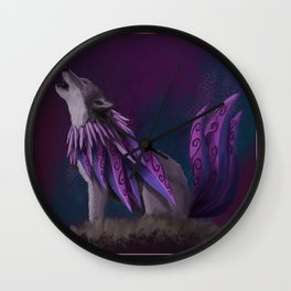 The Enigmatic Wolf Wall Clock