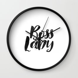 Boss Lady, Office Decor,Office Sign, Like A Boss, Girl Boss, Girls Room Decor,Quote Prints,Printable Wall Clock