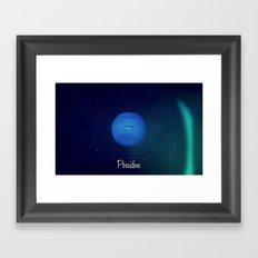 Cosmos Poseidon / Neptune Framed Art Print