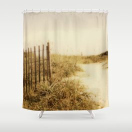 Florida Beaches - Polaroid Shower Curtain