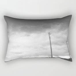 Sizzling Telephone Wires Above Rectangular Pillow