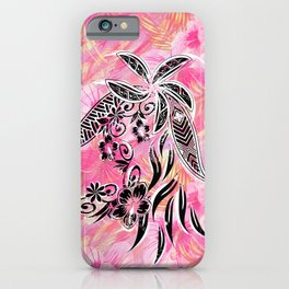 Pink Tribal Floral iPhone Case