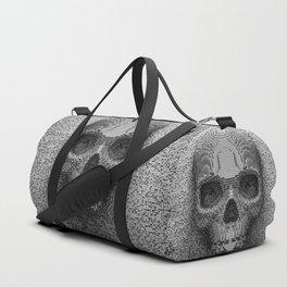 Pixel Skull B&W Duffle Bag
