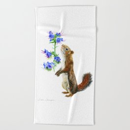 Take Time To Smell The Flowers by Teresa Thompson Beach Towel