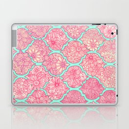 Moroccan Floral Lattice Arrangement in Pinks Laptop & iPad Skin