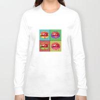 lips Long Sleeve T-shirts featuring lips  by mark ashkenazi
