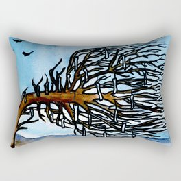'Opposites' Tree Rectangular Pillow