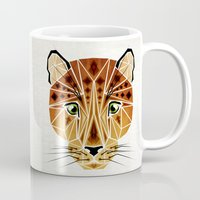 leopard Mugs featuring leopard by Manoou