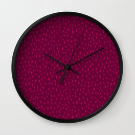 Raspberry Paint Drops Wall Clock