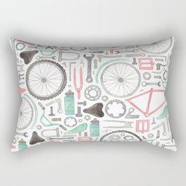Cycling Bike Parts Rectangular Pillow