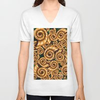 shells V-neck T-shirts featuring Shells by imrvphoto