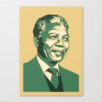 mandela Canvas Prints featuring MANDELA by UCArts