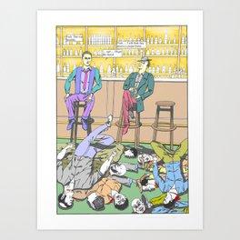 Bar Death Scene Art Print