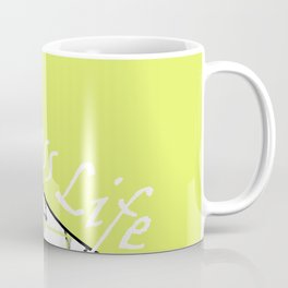 The fitness club . Sport . Lemon white creative sport pattern . Coffee Mug