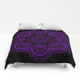 Deep Purple Mandala Comforters