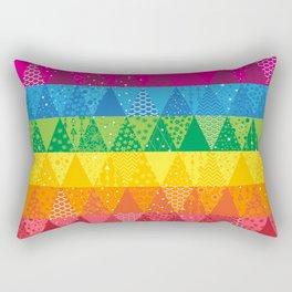 Rainbow Triangles Rectangular Pillow