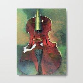 Violin Art Metal Print