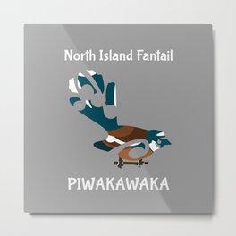 Piwakawaka | Fantail | New Zealand bird Metal Print