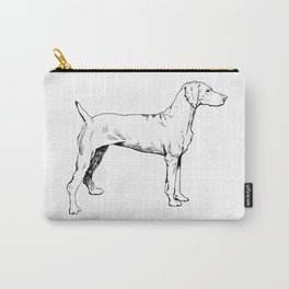 Viszla Dog Ink Drawing Carry-All Pouch