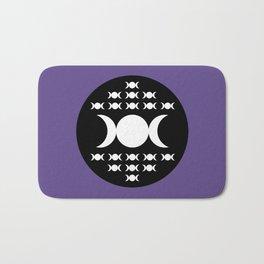 Triple Moon Goddess - White, Black and Ultra Violet Bath Mat