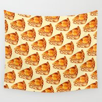 pie Wall Tapestries featuring Apple Pie Pattern by Kelly Gilleran