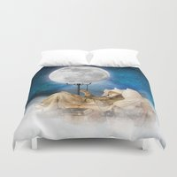 sandman Duvet Covers featuring Good Night Moon by Diogo Verissimo
