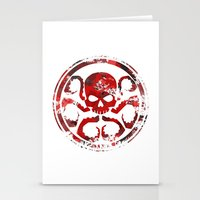 hydra Stationery Cards featuring HYDRA by Trey Crim