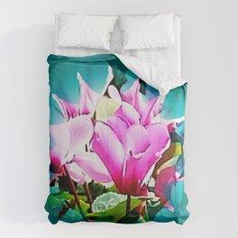 Cyclamen flowers Comforters